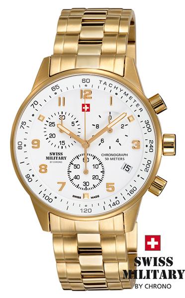 b988d9b6f Pánské hodinky SWISS MILITARY 20042PL-2M s chronografem a datumem ...