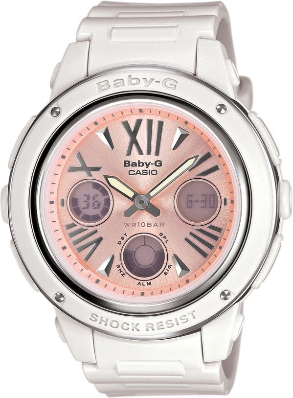 6e0e76dbe14 Dámské hodinky s podsvícením a budíkem. CASIO BABY-G BGA 152-7B2