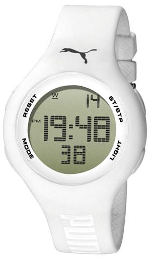 Unisex hodinky s budíkem a podsvícením. PUMA Loop White PU910801010 99669277353