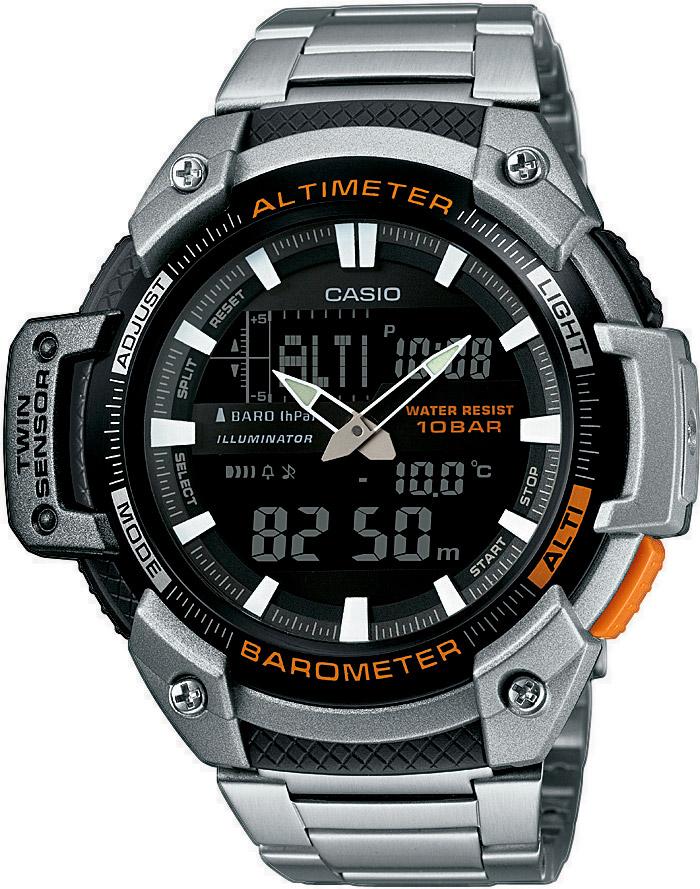 8921c4d5f4a Pánské hodinky s výškoměrem a teploměrem. CASIO SPORT GEAR SGW 450HD-1B