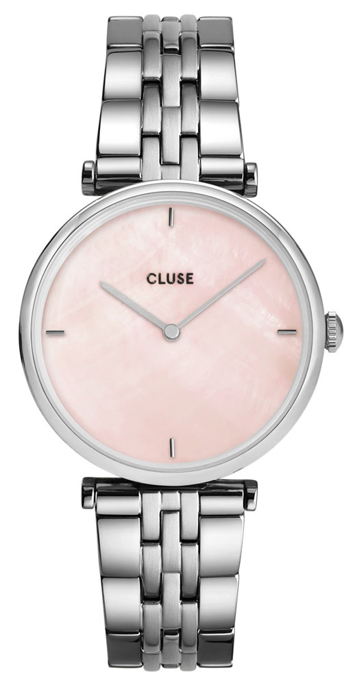 CLUSE TRIOMPHE STEEL SILVER SALMON PINK PEARL CW0101208013