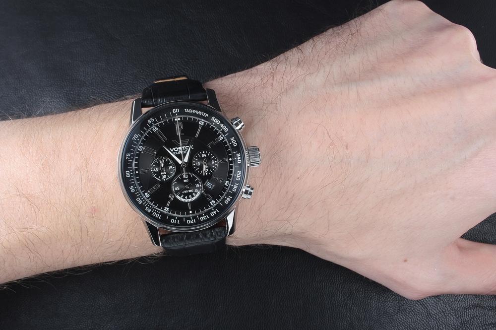 64c5535b9d8 Pánské hodinky VOSTOK OS22 5611131 s chronografem a datumem ...