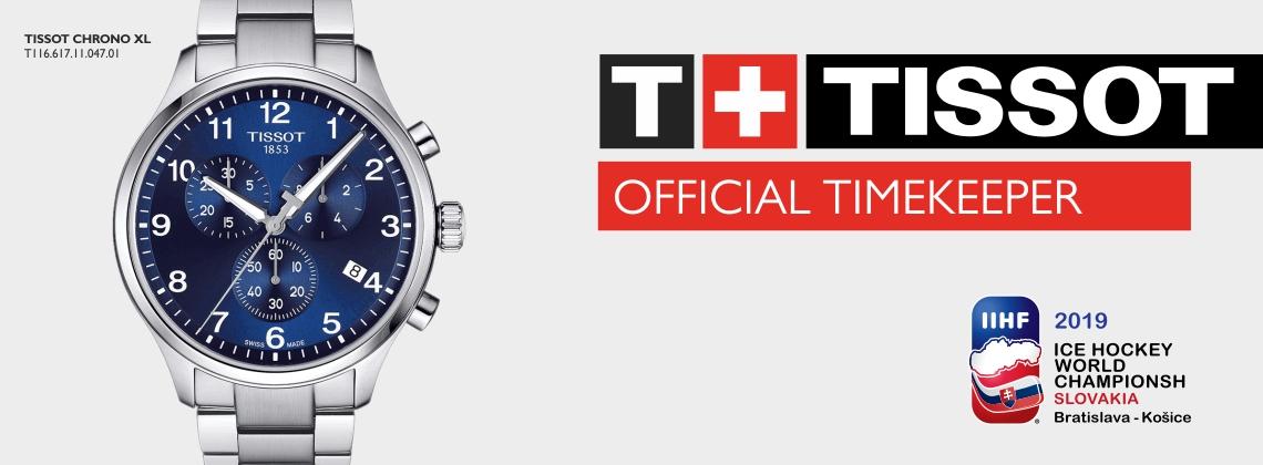 TISSOT OFFICIAL TIMEKEEPER IIHF 2019